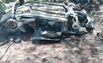 Joven muere calcinado tras vuelco de vehículo en San Alberto