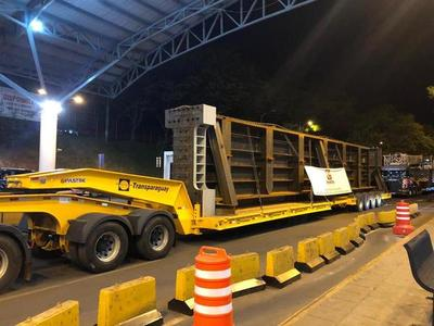 Vigas de 60 toneladas serán colocados en el Puente Integración