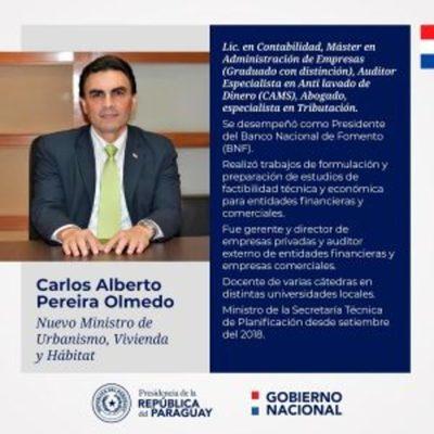 Ejecutivo oficializa designación de Carlos Pereira como nuevo ministro de Urbanismo y Vivienda