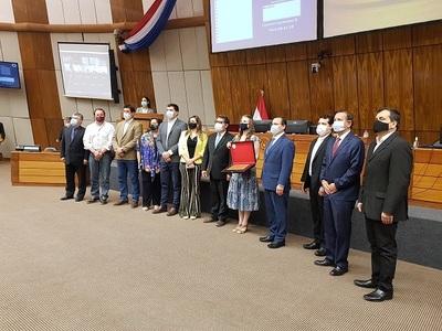 Cámara de Diputados entrega reconocimiento a #HambreCeroParaguay