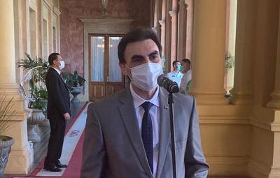 Juramento de Carlos Pereira como nuevo ministro de Urbanismo