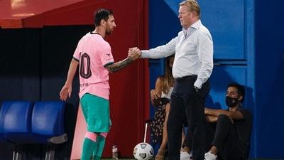 """Koeman: """"Leo Messi es el mejor del mundo y no es un jugador difícil de llevar"""""""