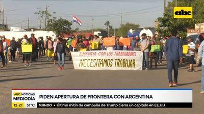 Comerciantes piden apertura de fronteras con Argentina
