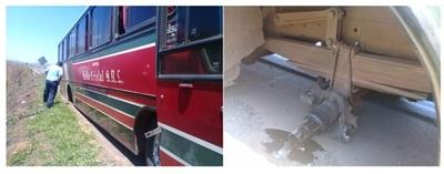 DINATRAN abre sumario contra empresa cuyo bus perdió ruedas en pleno viaje