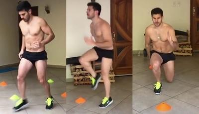 Carlos Viveros presumió los resultados tras meses de entrenamiento