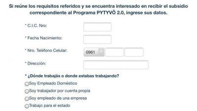 Pytyvõ 2.0: Circulan falsos formularios de preinscripción