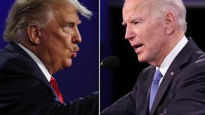Primeros resultados confirman dura puja entre Trump y Biden en EE.UU