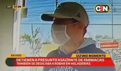 Detienen a sospechoso de asaltar farmacias en Asunción y Central