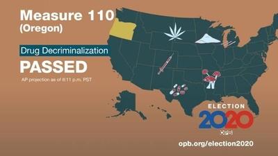 HOY / Oregon se convierte en primer estado de EEUU en despenalizar drogas duras