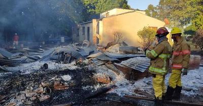 Adulto mayor muere tras incendio de vivienda en Caaguazú