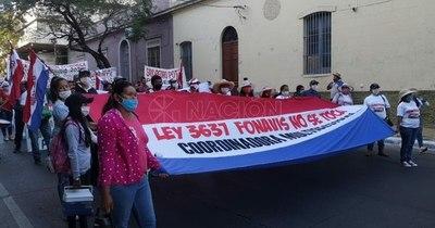 La Nación / Coordinadora multisectorial de Fonavis se moviliza y rechaza modificación de ley