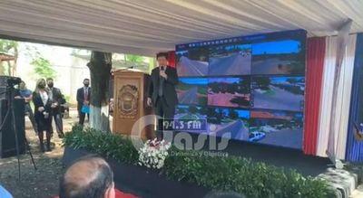 Ministro del Interior inaugura en Yby Yau videovigilancia del Sistema 911 y presentación del Grupo Lince.