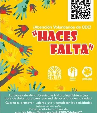 Lanzan campaña «Haces Falta» para voluntarios