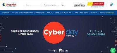 Inverfin presenta cifras positivas en el Cyber Day en su novedosa Tienda Online