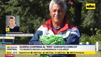 """Olimpia confirma a """"Pipo"""" Gorosito como DT"""