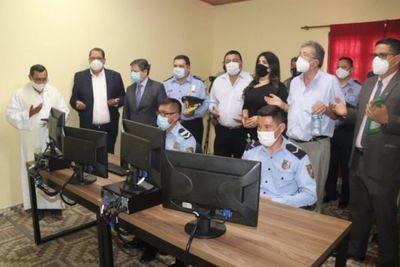 En la ciudad de Yby Yaú, Ministro del Interior preside inauguración de videovigilancia del Sistema 911 y presentación del Grupo Lince