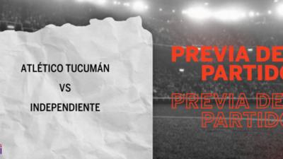 Atlético Tucumán recibirá  a Independiente por la Llave O1