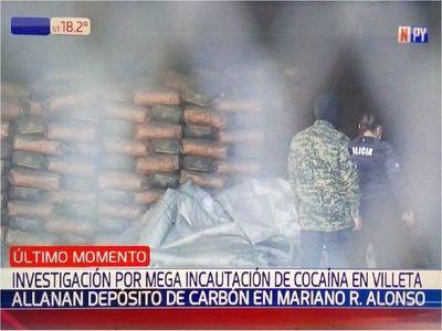 Incautación récord de cocaína: Fiscalía allana un depósito de carbón de Cristian Turrini