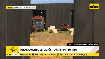Allanamiento en depósito de Cristian Turrini
