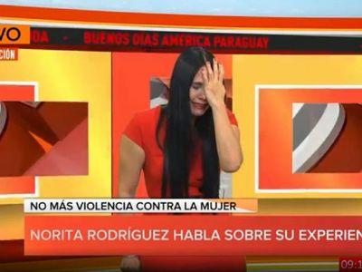 """""""Te voy a picar la cara como hielo"""", dijo su ex a Norita Rodríguez"""