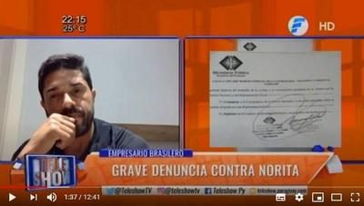 Empresario dio su versión tras denuncia de Norita Rodríguez