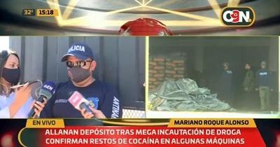 Hallan restos de cocaína en depósito de Turrini