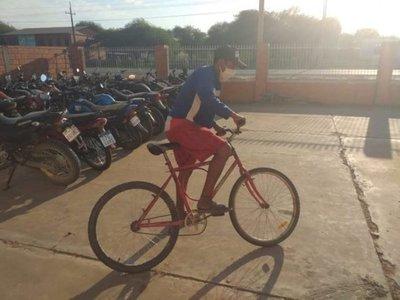 Le sacan la bici a ciclista por manejar borracho