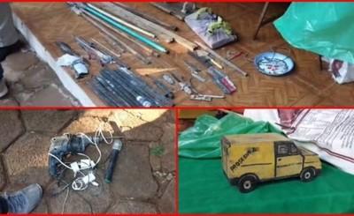 Puñales, espadines, taladros, celulares y drogas en cárcel de CDE