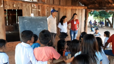 Indígenas de San Pedro denuncian falta de agua potable y aulas