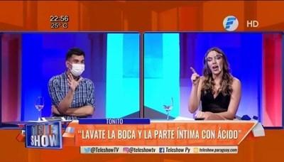 Fuerte pelea entre Sebas y Nati por el caso de Toñito y Jazmín