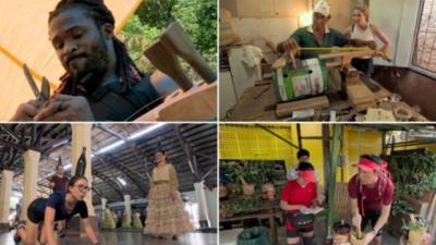 Orquesta de reciclados en el ojo del mundo
