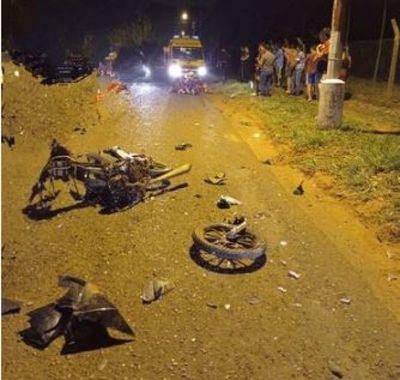 Tres muertos en Central: dos motociclistas y un anciano que murió calcinado