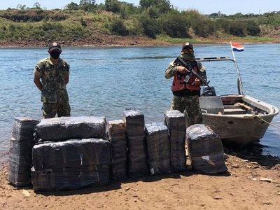 Incautan mercaderías de origen argentino a orillas del río Paraná