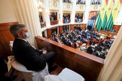 Abdo presente en ceremonia de posesión de cargo del nuevo presidente de Bolivia