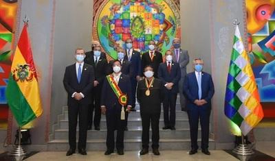 Abdo participó en ceremonia de posesión al cargo del nuevo presidente de Bolivia