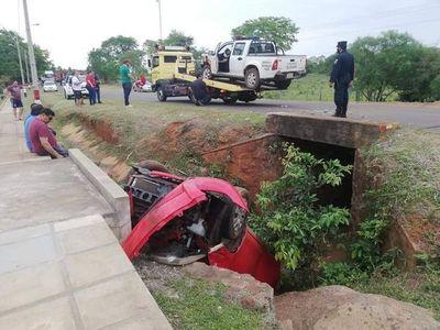 Conductor ebrio chocó de manera frontal a una patrulla policial de Santa María