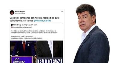 La Nación / Efraín se comparó con Biden y generó nueva burla en las redes