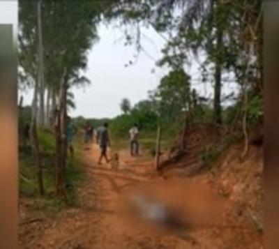 Asesinan a una mujer en un camino vecinal de Itapúa
