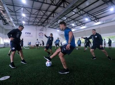 Selección Absoluta: Trabajos en el gimnasio, en el primer entrenamiento del día