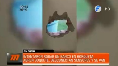 Ladrones perforan sucursal bancaria en Horqueta