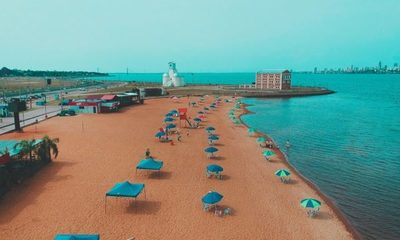 """Prueba de """"bienvenida"""" al verano 2020-2021 en modo covid en las playas de Encarnación"""