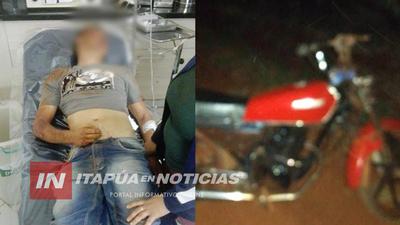 ACCIDENTE ENTRE MOTOCICLETAS TERMINÓ CON UN LESIONADO GRAVE DERIVADO A ENCARNACIÓN