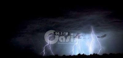 Emiten alerta de tormentas para Centro, Norte y Este del país para este martes