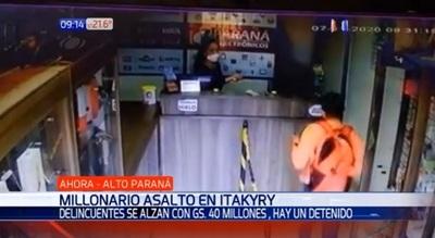 Asalto en Itakyry: Comercio sufre despojo de G. 40 millones
