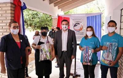 Inauguración de obras en centro de formación profesional de Asunción