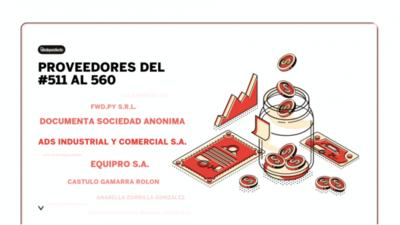 Empresas proveedoras al estado en octubre 2020 (del 511 al 560)