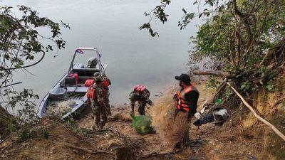 Hallan plantines de marihuana durante operativo de decomiso de elementos de pesca en Ayolas