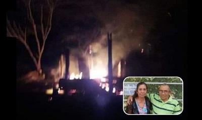 Dos ancianos, un ex catequista y su señora, murieron calcinados en su casa