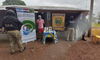 Detienen brasileño ligado al narcotráfico