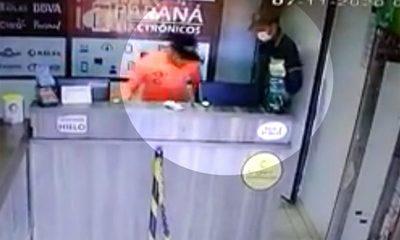 Tratan de identificar a delincuentes que asaltaron un comercio en cruce Itakyry – Diario TNPRESS